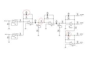 Rangkaian 11-90 hz  Subwoofer Filter